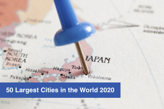 50 Largest Cities in the World 2020