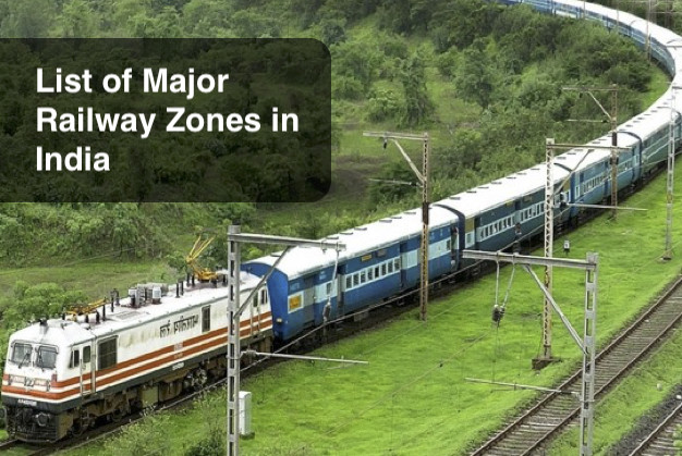 List of Major Railway Zones in India