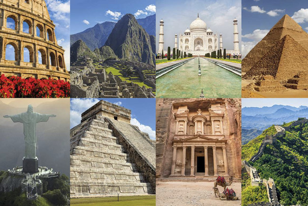 7 Wonders of The Ancient World & New 7 Wonders of the World