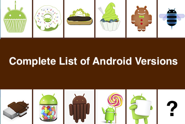 Complete List of Android Versions