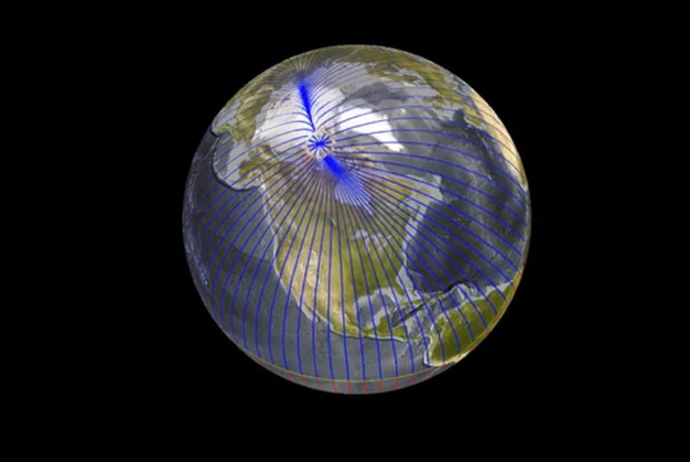 Difference between the Geographical pole and the magnetic pole