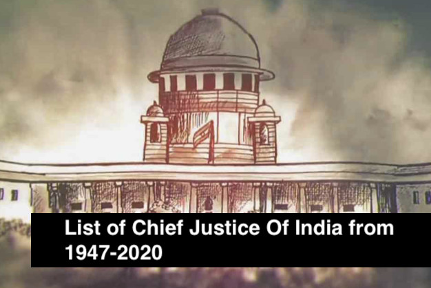 List of Chief Justice Of India from 1947-2020