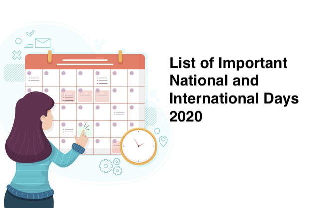 List of Important National and International Days 2020