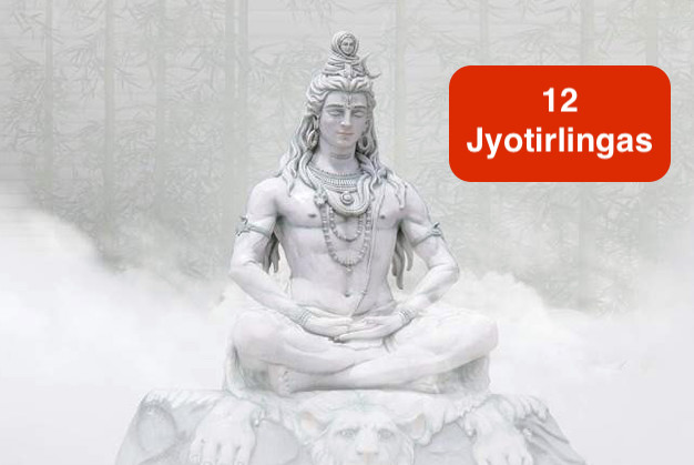 The shrines of the twelve Jyotirlingas