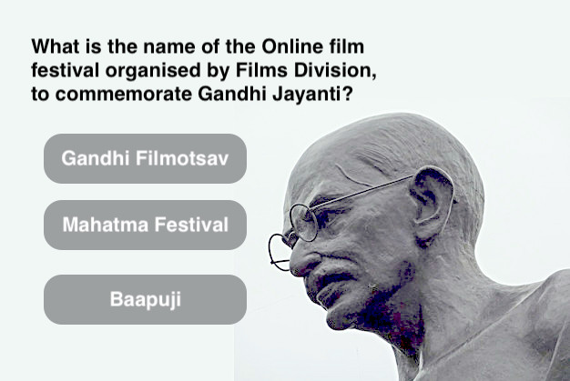 What is the name of the Online film festival organised by Films Division, to commemorate Gandhi Jayanti?