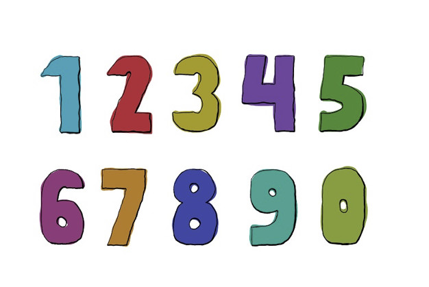 Numbers with words